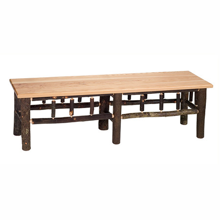 FL85510 Hickory Bench with Hickory Seat