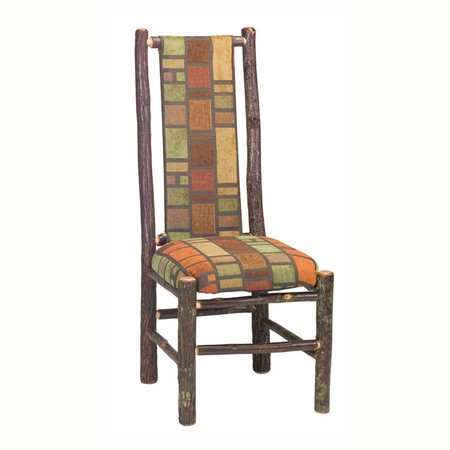 FL86070 Hickory High Back Upholstered Side Chair