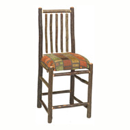 FL86530 Hickory Barstool with Upholstered Seat