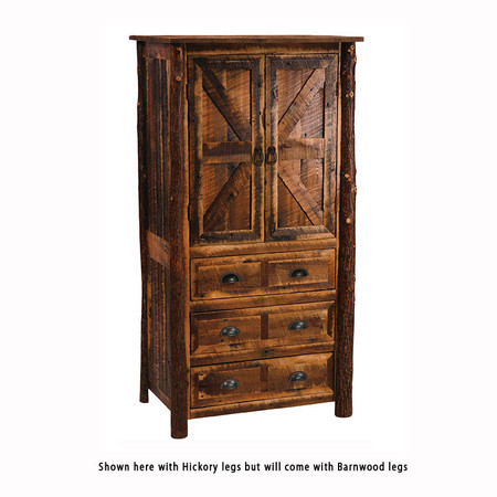 FLB12091-P Barnwood Three Drawer Armoire