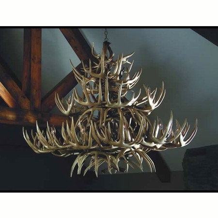 HP66610 The Grand Teton Antler Lighting