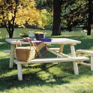 RN21 Log Picnic Table