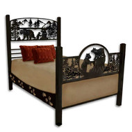 WF101 Metal Bear Carving Bed