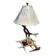 WH6111 Real Mule Elk Antler Lamp