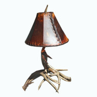 WH6112 Real White Tail Antler Lamp