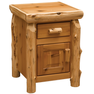 FL11041 Cedar Enclosed Traditional Nightstand