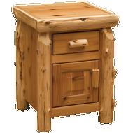 FL11041 Cedar Enclosed Traditional Nightstand
