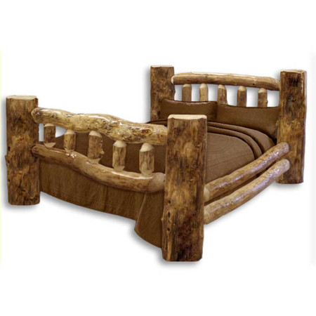 1104 Classic Rustic Log Bed