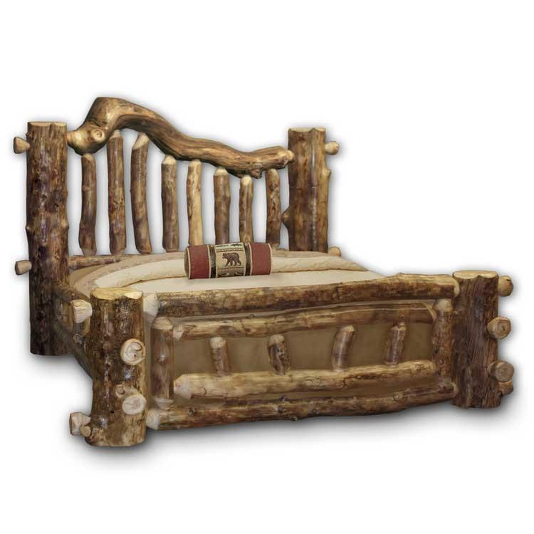 Majestic Rustic Furniture Aspen Log Bed