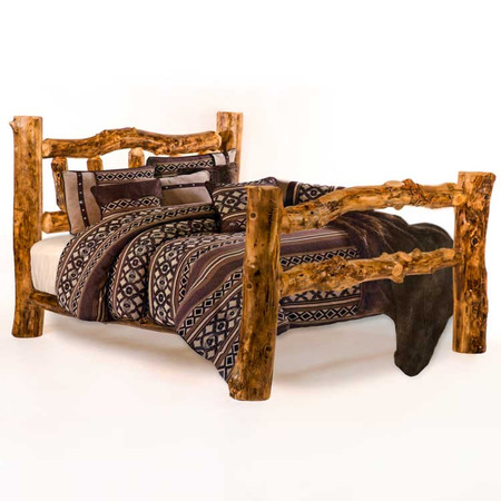 1204SB Custom Sunburst Rustic Log Bed