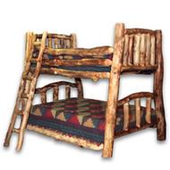 1206 Custom Log Bunk Bed