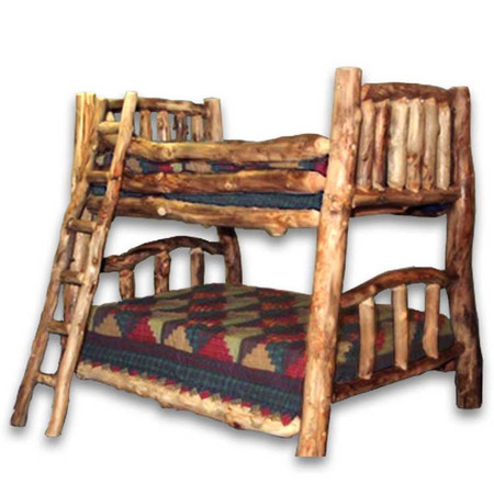 1206 Custom Log Bunk Bed