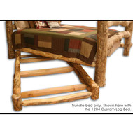 1207 Rustic Aspen Hide-a-Bed Log Trundle