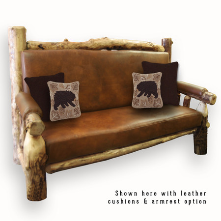 2203 Rustic Couch with Cushions