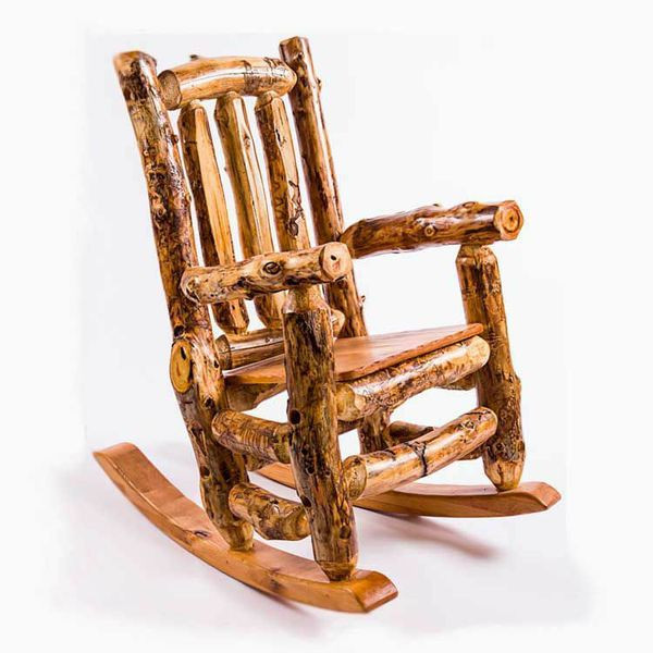 2231 Outdoor Rustic Rocking Chair