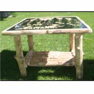 3104 Rustic Metal Art End Table