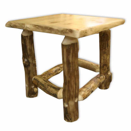 3204 Rustic Log Corner End Table/Nightstands