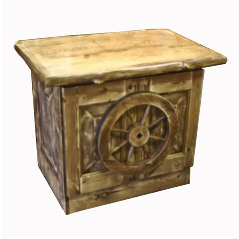 Rustic Furniture Wagon Wheel End Table Nightstand Tv Stand