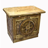3209 Wagon Wheel End Table/Nightstand/TV Stand