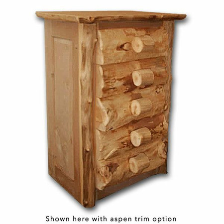 4105 Rustic 5 Tall Drawer Chest of Drawers