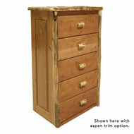 4202 Rustic 5 Drawer Chest of Drawers