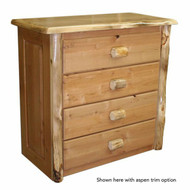 4204 Rustic 4 Drawer Chest of Drawers with Handle