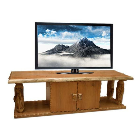 4222 Flat Screen Log TV Stand