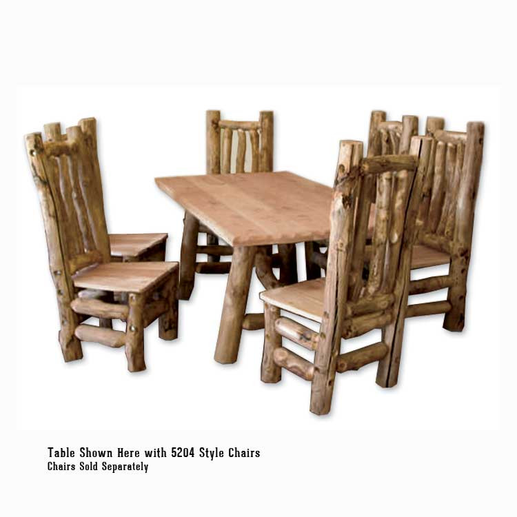 Log Furniture Dining Table