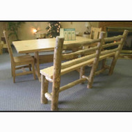 5206 Rustic Dining Bench with Back