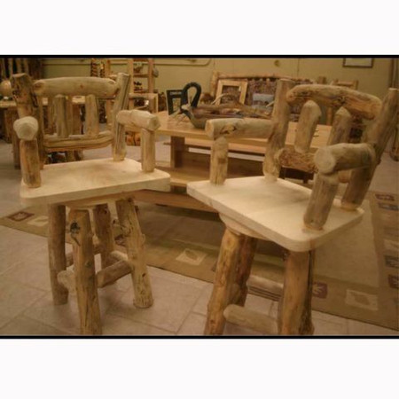 5213 Rustic Swivel Barstool with Back and  Arm