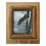 6211 Aspen Log Over Lumber Picture Frame