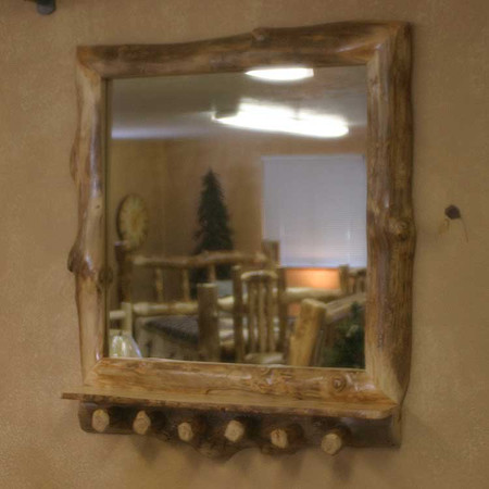 6221 Rustic Mirror Frame Coat Rack