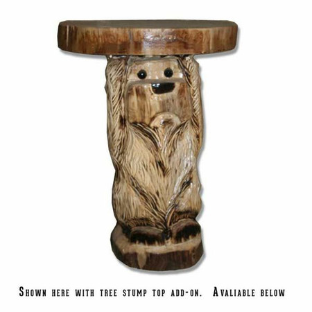 6228 Carved Bear End Table