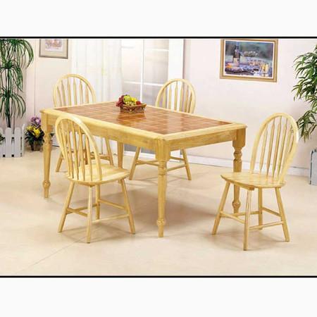 A02594 Natural Terracota Tile Top Table Set