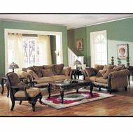 A05600 Chenille Fabric Sofa Set