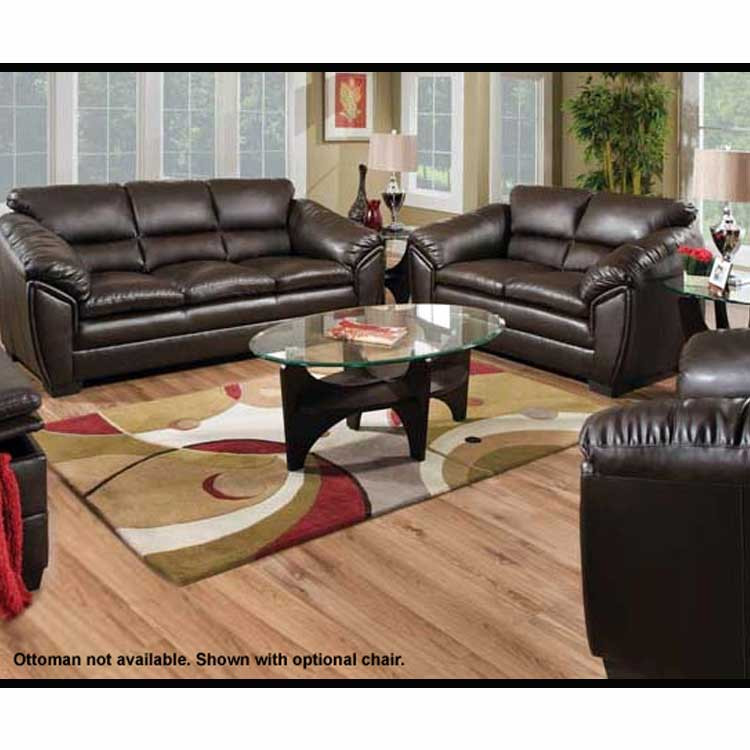 Rustic Log Furniture Kenya Godiva Bonded Leaather Sofa Set