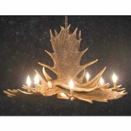 CHM6DL Moose 6 Antler Chandelier with Downlight