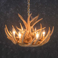 CHW9 Whitetail 9 Antler Chandelier