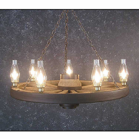 CHWWL Wagon Wheel Chandelier