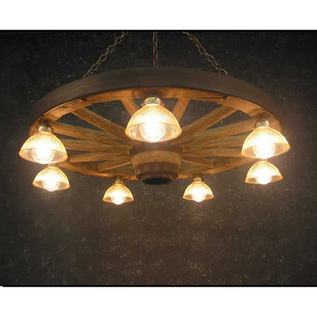 CHWWLDL Wagon Wheel Downlight Chandelier
