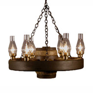 CHWWS Small Wagon Wheel Chandelier