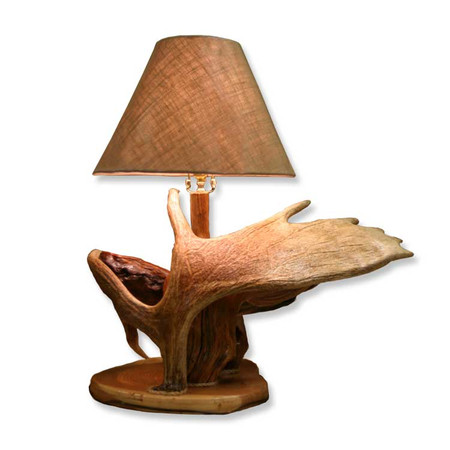 DH2224 Moose Antler Log Lamp