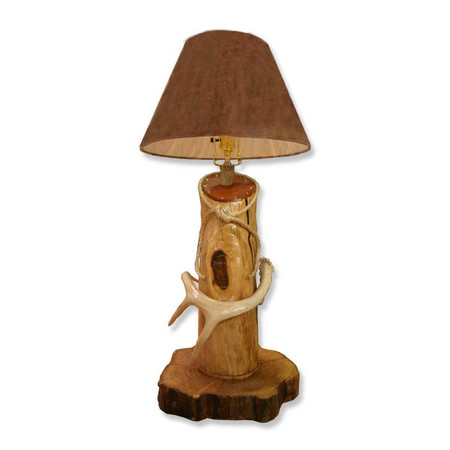 DH2226 Deer Antler Rope Log Lamp