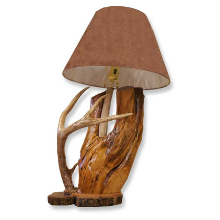 DH2227 Deer Antler Log Lamp