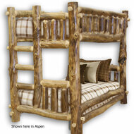 FL10120 Traditional Log Bunk Bed