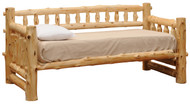 FL10155 Rustic Log Day Bed