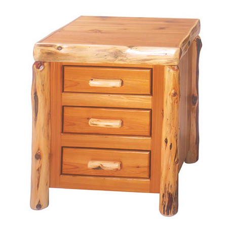 FL11030 Traditional 3 Drawer Nightstand