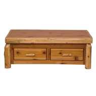 FL14110 Cedar Enclosed Coffee Table With Elevating Top