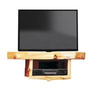 FL14241 Cedar Corner TV Shelf With DVR/DVD Shelf