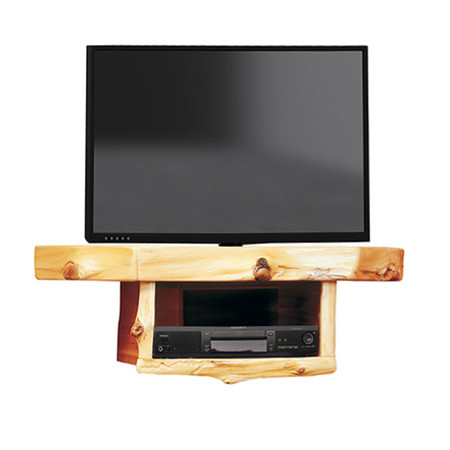 FL14241 Cedar Corner TV Shelf With DVR/DVD Shelf